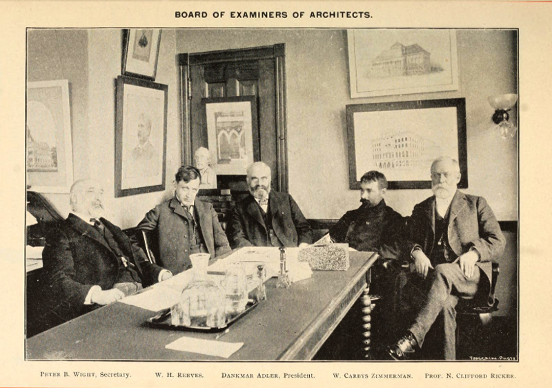 The First Illinois Architecture Licensing Board