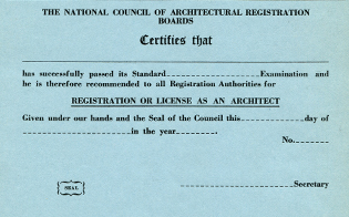 First NCARB Certificate