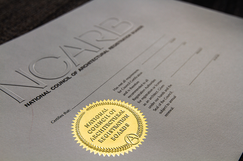 The current NCARB Certificate