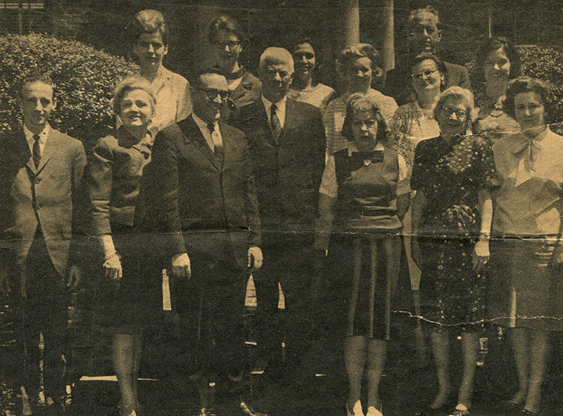 NCARB staff stand outside the Council office in the 1960s.