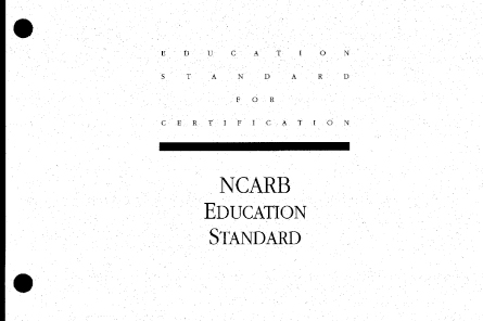 Education Standard circa 1996