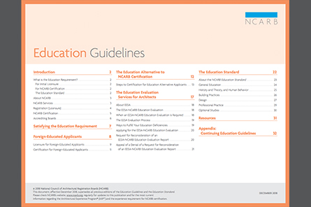 2019 Education Guidelines