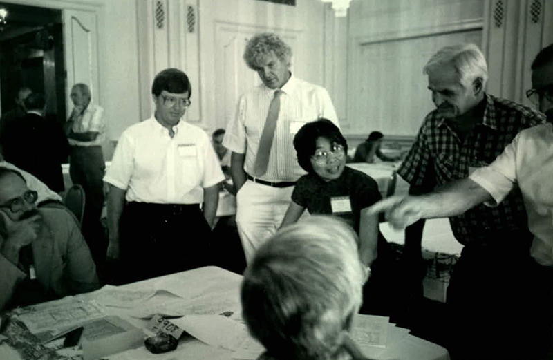 The ARE Grading Committee in the 1980s.