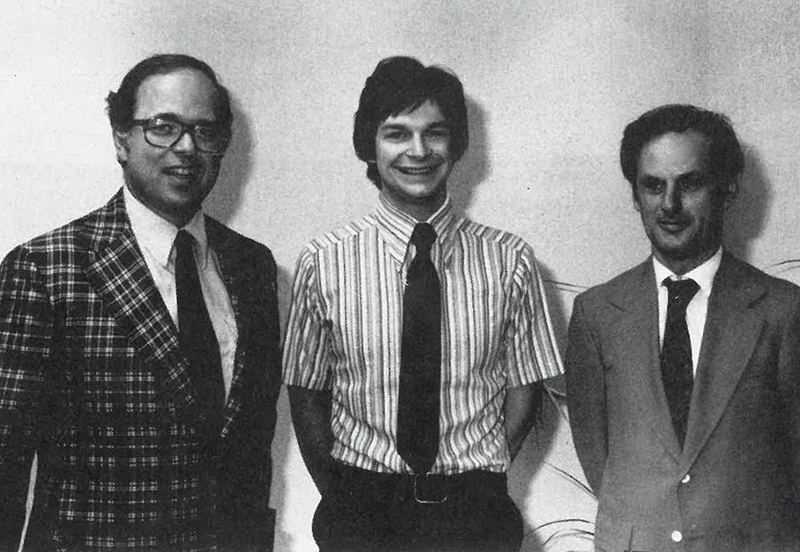 In 1979, Dwight Dobberstein (middle) of Iowa City, Iowa, was the first person to complete the IDP.