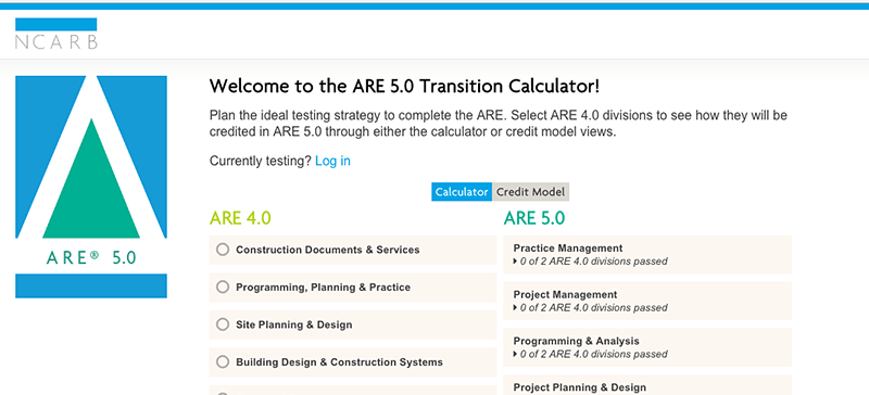 NCARB's Transition Calculator helped candidates develop a personalized testing strategy.